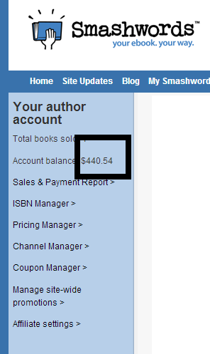 $440.53 - Smashwords Book Sales