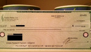 Sandra's First Vindale PayCheck