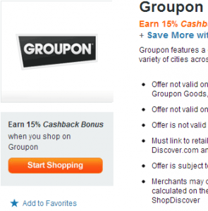 Save on Groupon With Discover Credit Card