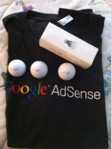 Google Adsense Tshirt & Golf Balls - Adsense in Your City