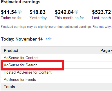 Google Adsense for Search