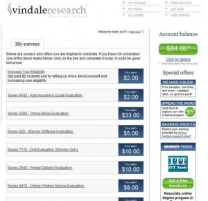 Vindale Research Payment $84